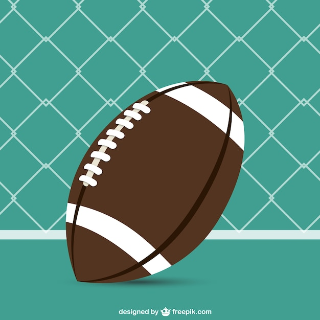 American Football Ball Background Vector Free Download