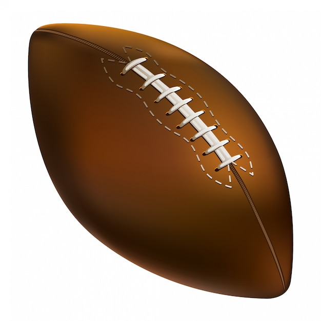 American football ball Premium Vector
