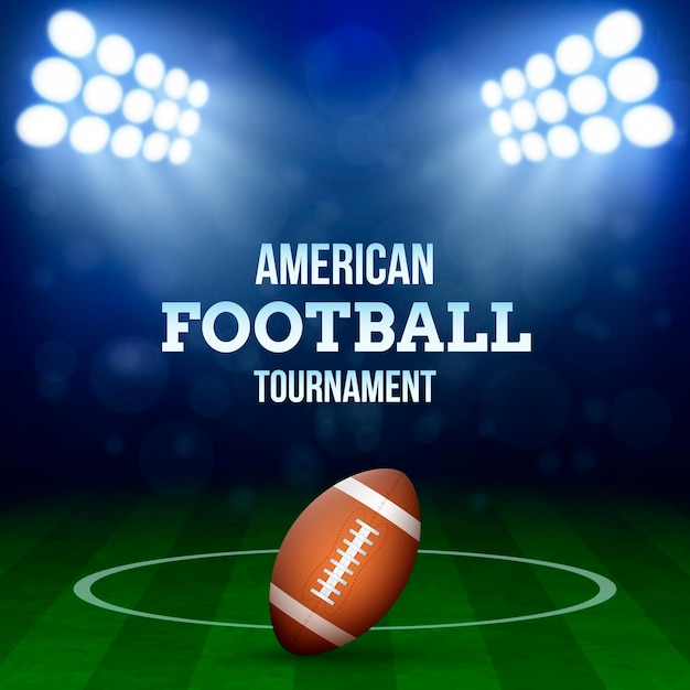 American football concept illustration Free Vector