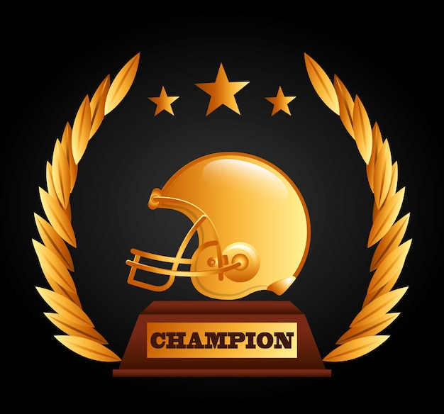 American football design Free Vector