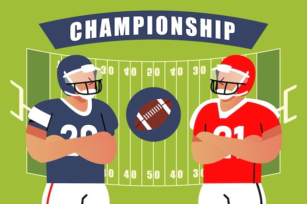 American football different teams championship Free Vector