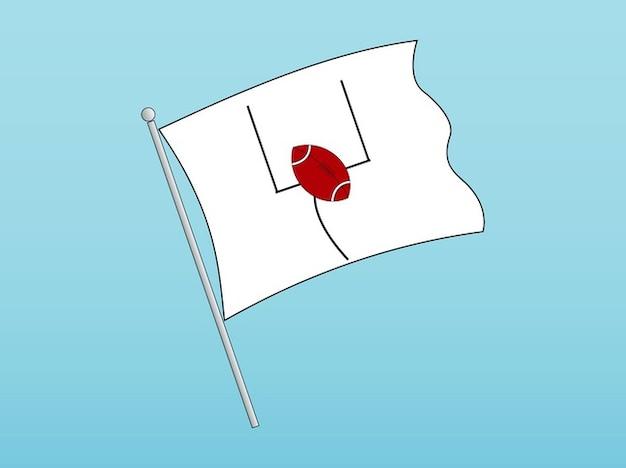 American football flag logo vector