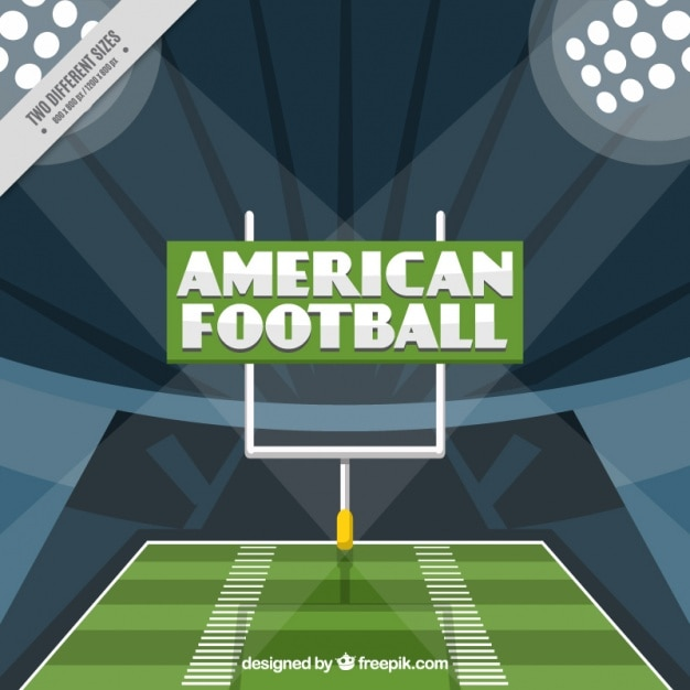 American football game background in flat\ design