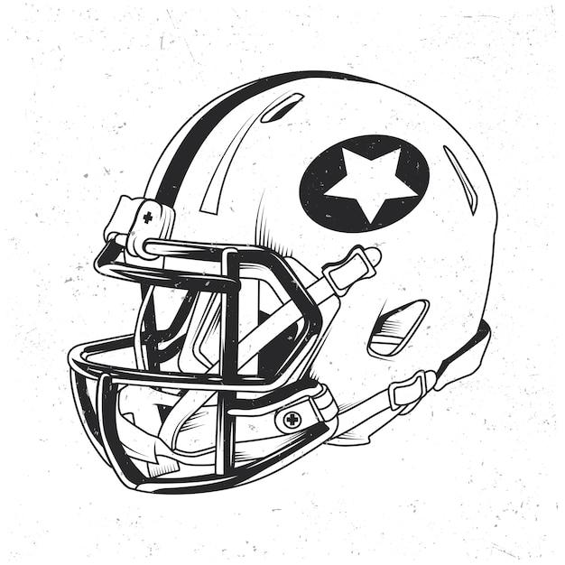 American football helmet illustration Free Vector
