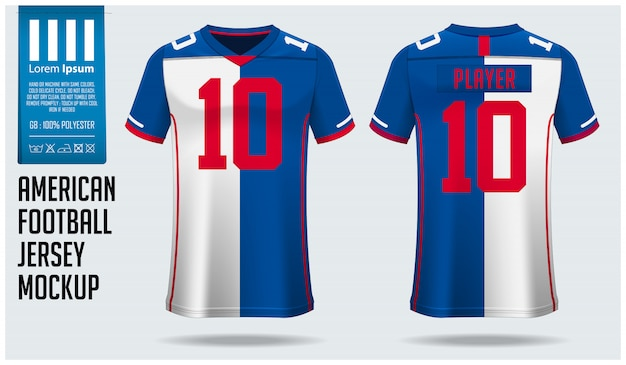 Download Premium Vector American Football Jersey Or Football Kit Template Free Mockups