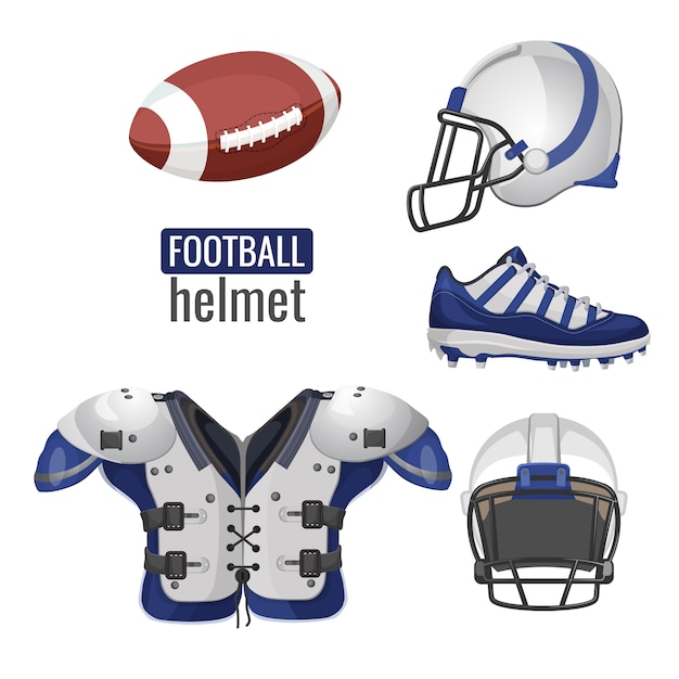 American football player outfit. Premium Vector