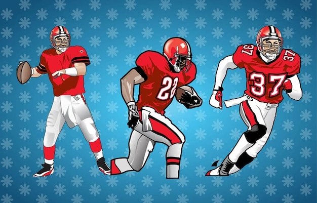 American Football Players Vector