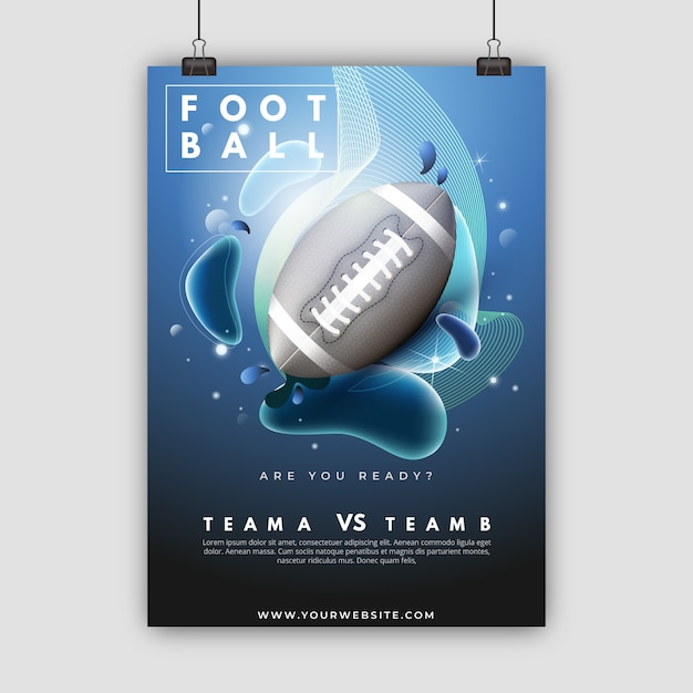 Modello del manifesto di football americano Vettore gratuito