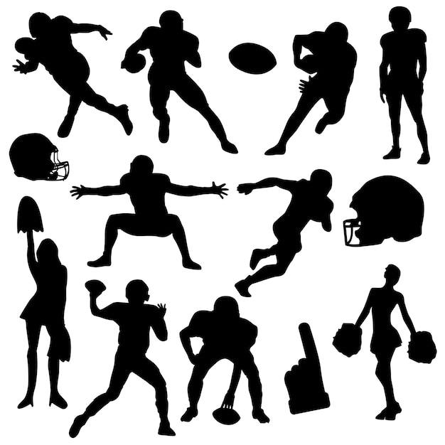American football rugby spot silhouette vector Premium Vector
