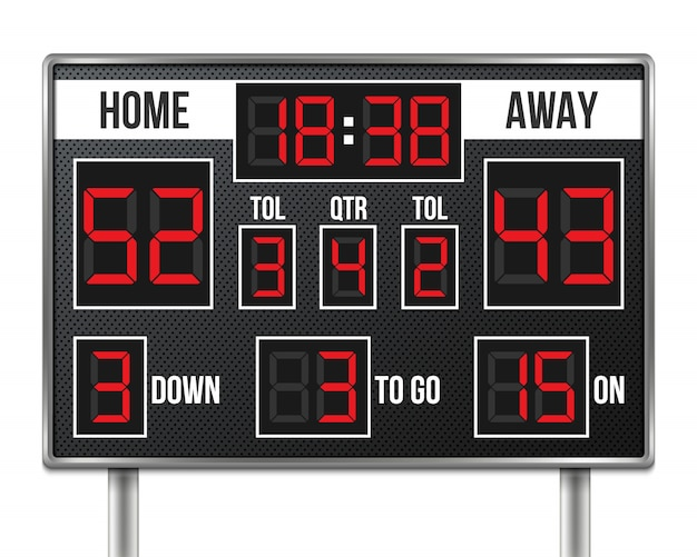 American football scoreboard Premium Vector