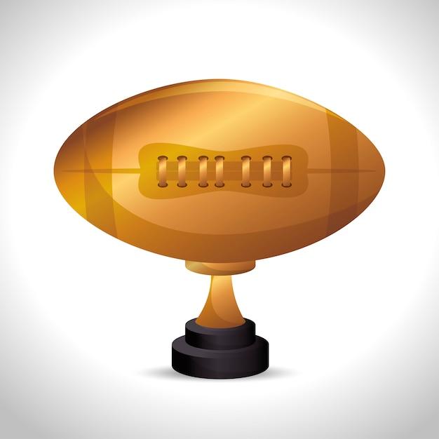 American football sport icon Free Vector