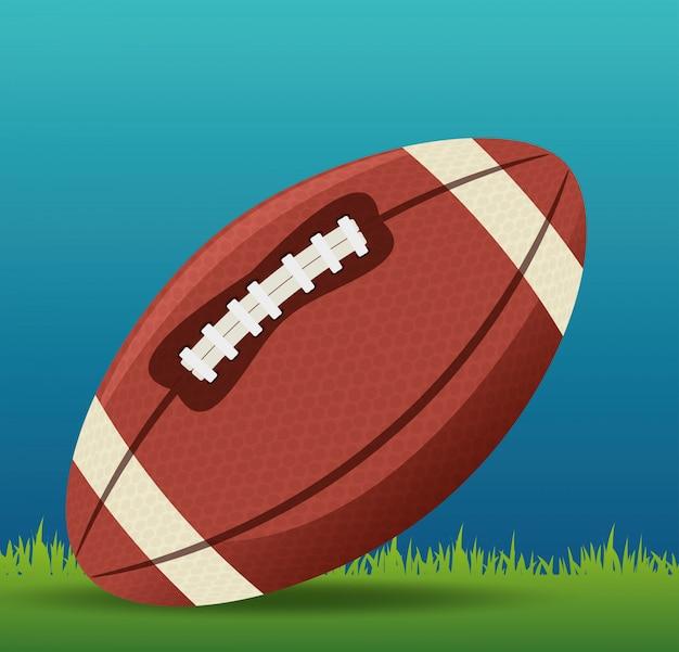 American football sport Free Vector