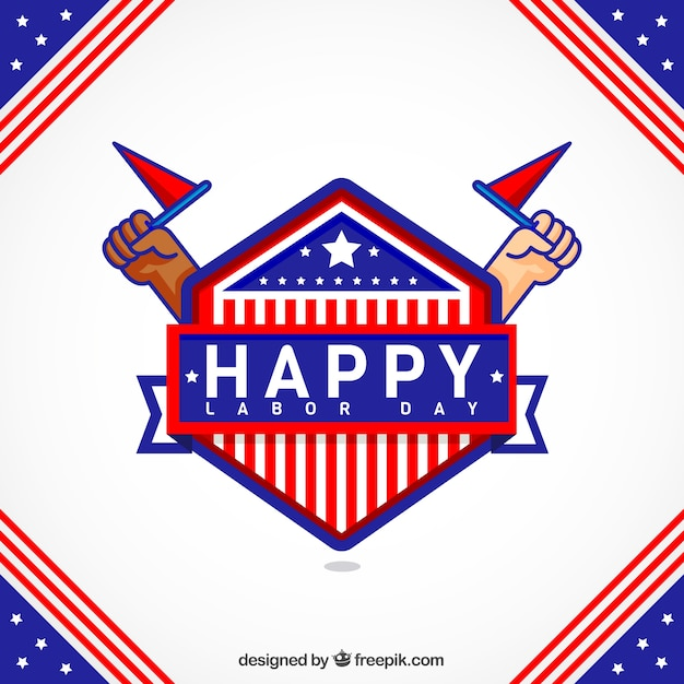 American happy labor day vintage background