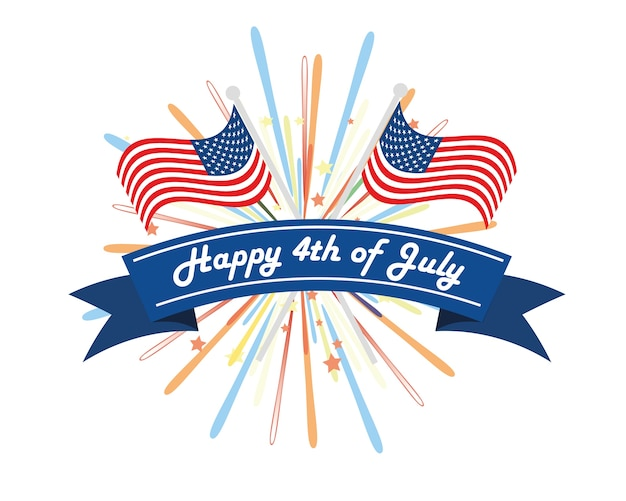 American independence day 4th of july event banner logo background american independence day 4th of july event banner logo background greeting card premium vector m4hsunfo