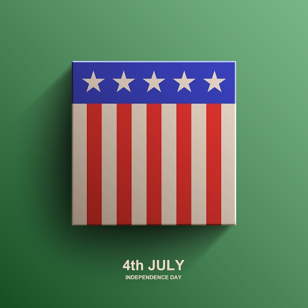 アメリカ独立記念日の背景、アメリカの国旗、 Premiumベクター