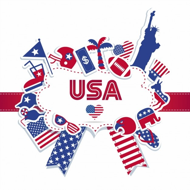 american independence day badge vector free download