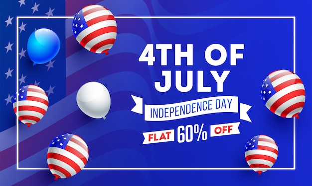 American independence day banner. Premium Vector