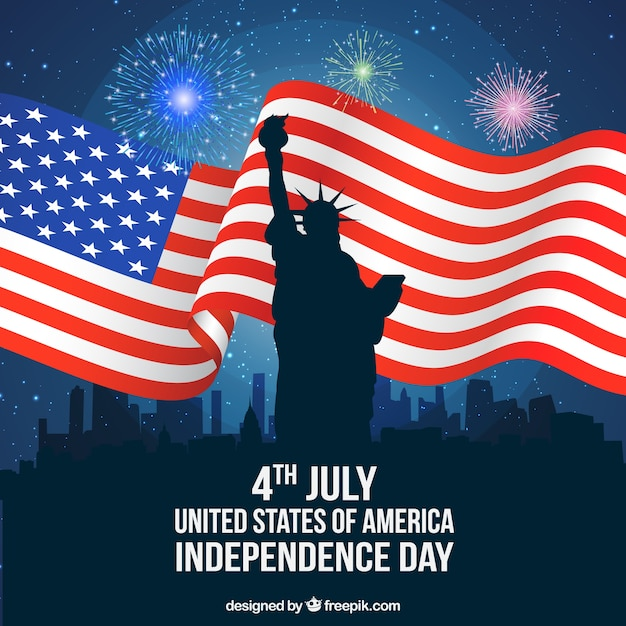 American independence day in new york city Free Vector