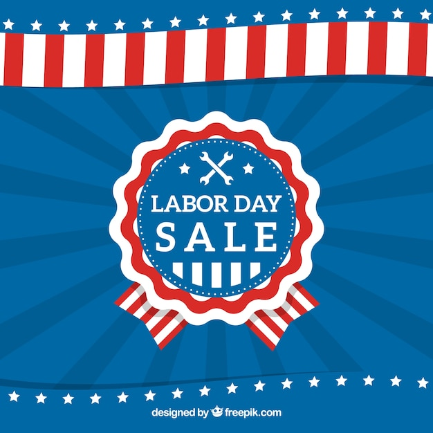 American labor day badge sales retro background