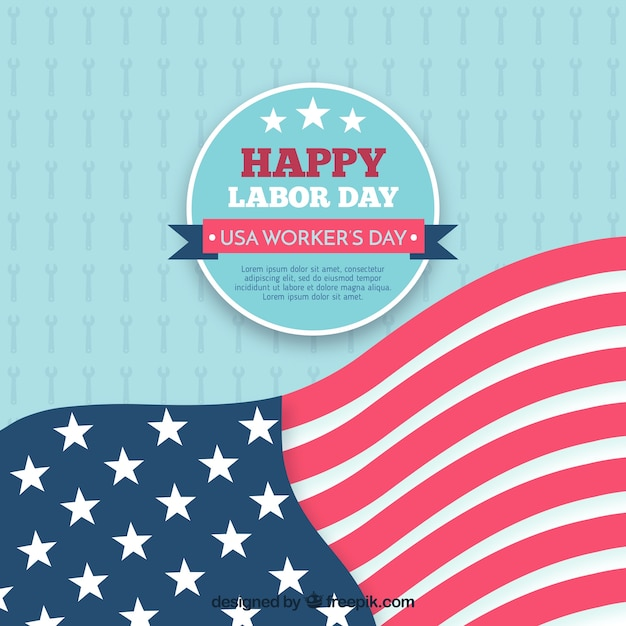 American labor day flag background