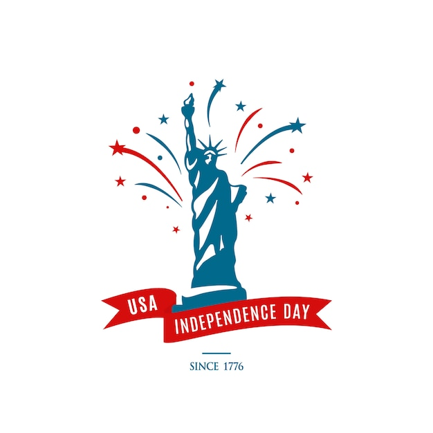 American national holiday 4th of july. usa independence day. Premium Vector