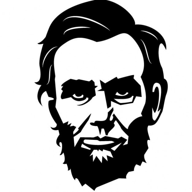 American President Portrait Abraham Lincoln Vector Free Download