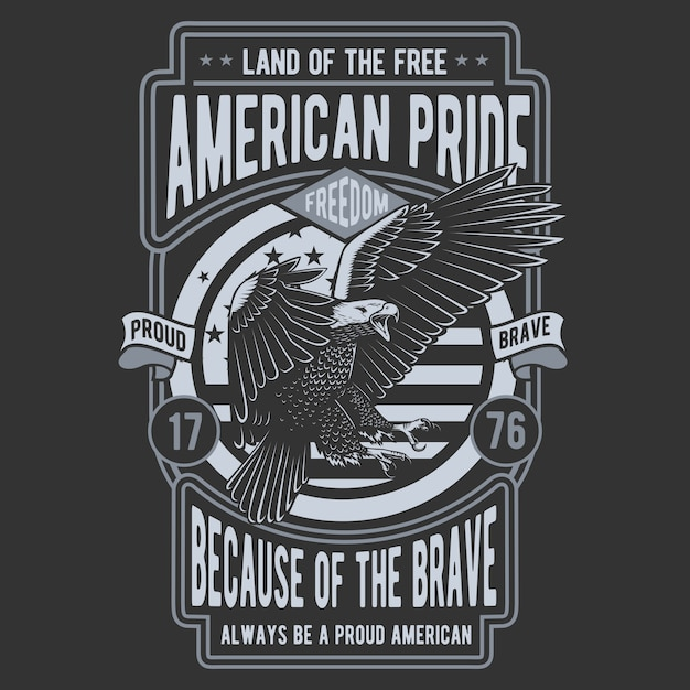 American pride eagle Premium Vector