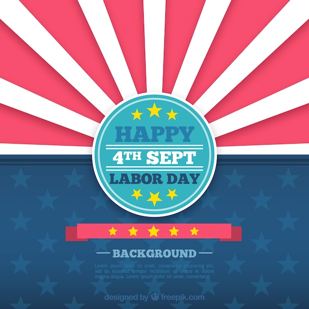 American retro labor day background