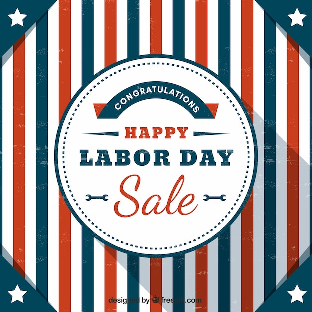 American retro labor day stripes background