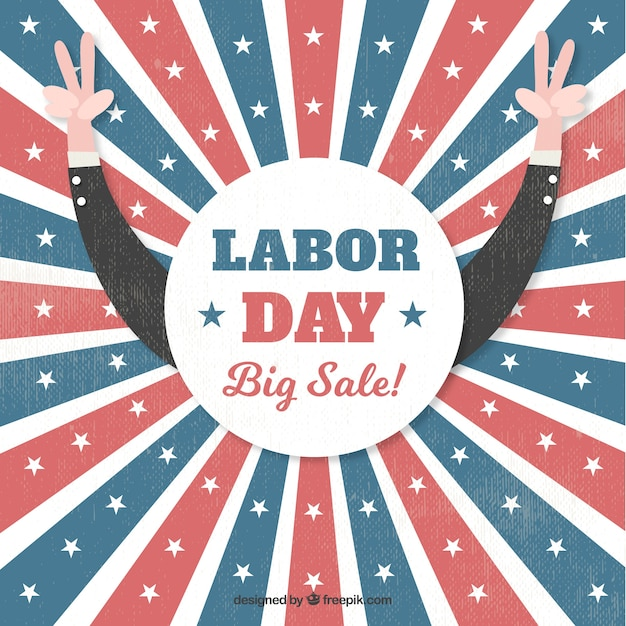 American retro sale background of labor day