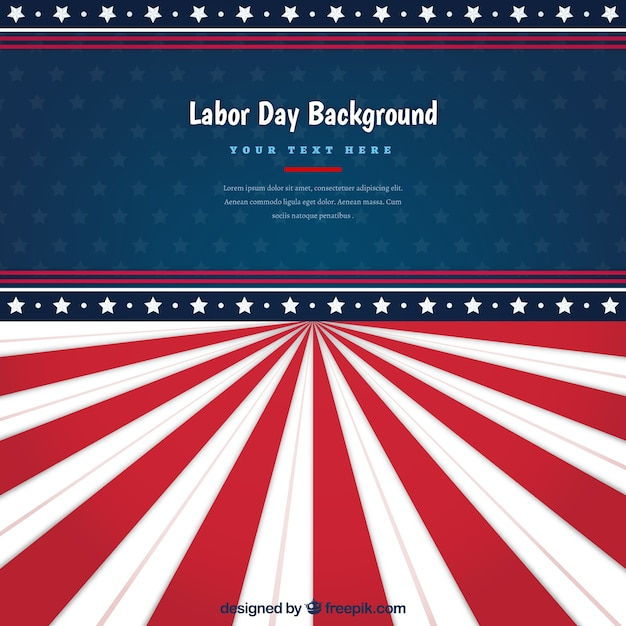 American retro stripes labor day background