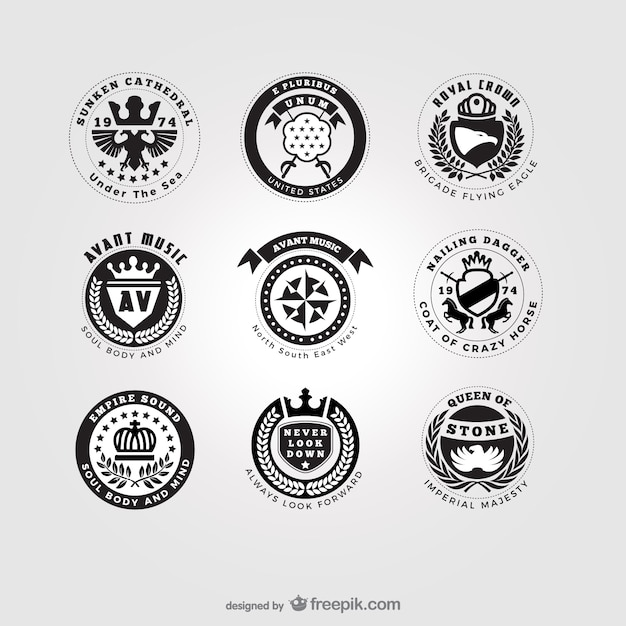 american style logos pack vector free download