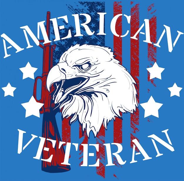 Американский ветеран Premium векторы