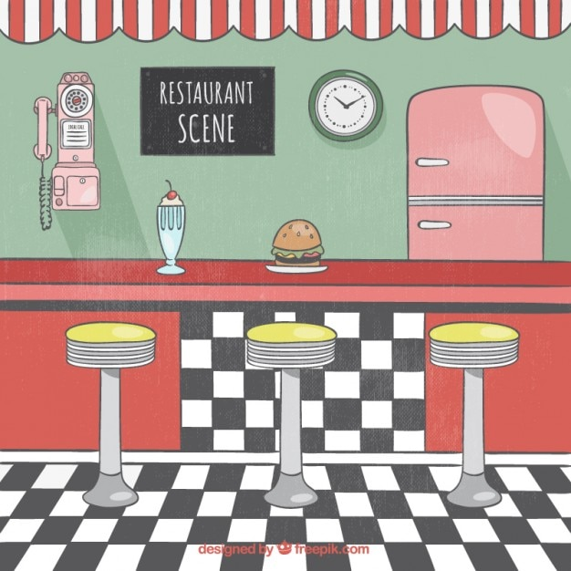 American Diner Vectors Photos And PSD Files Free Download