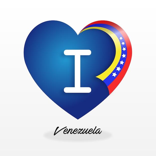 Amor a venezuela Premium Vector