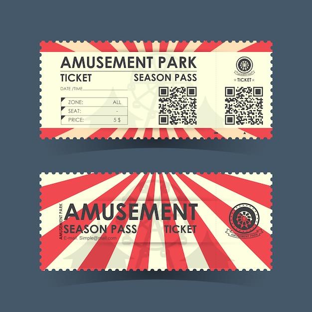 遊園地チケット Premiumベクター