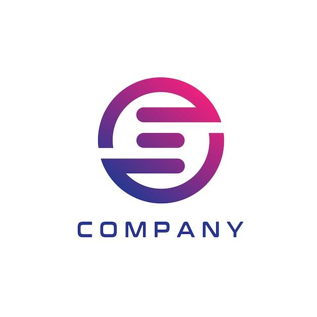 Абстрактный и современный дизайн логотипа e Premium векторы