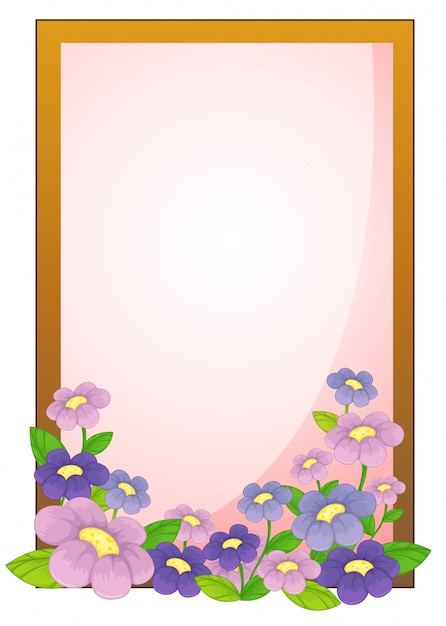 an empty frame with flowers free vector - Empty Picture Frame