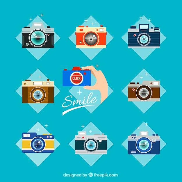 Analog cameras collection Free Vector