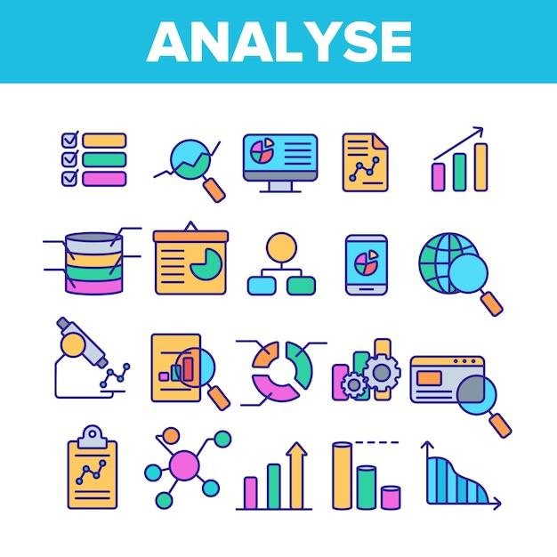 Analysing data Premium Vector