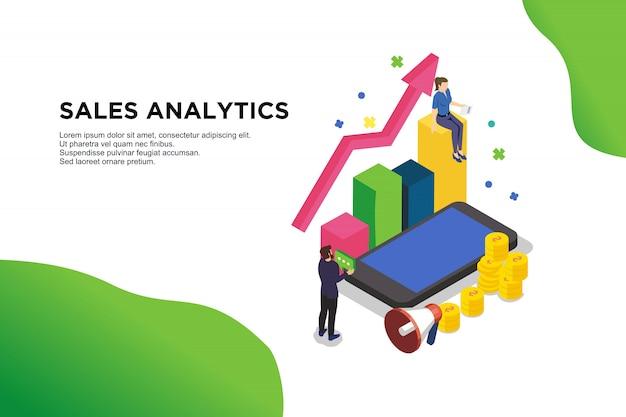 Analysis of sales Premium Vector