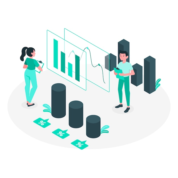 Analytics concept illustration Free Vector