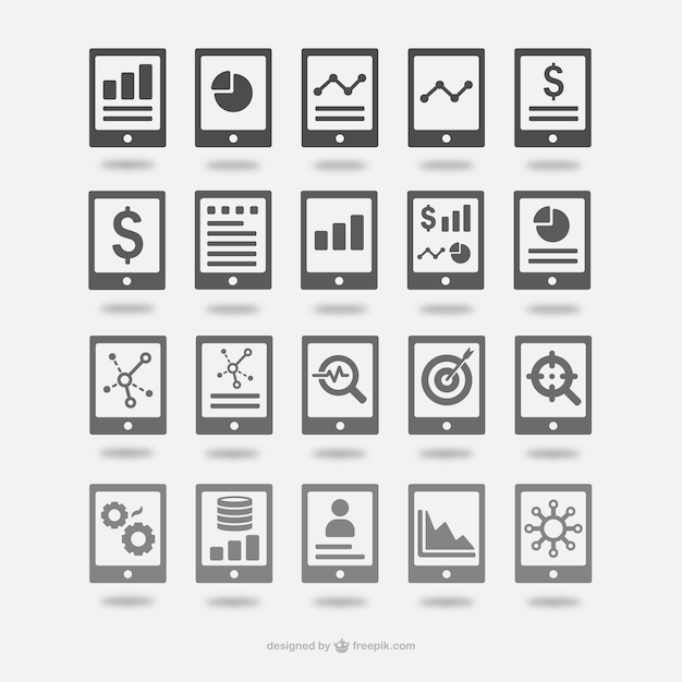 free vector analytics icons set free vector analytics icons set