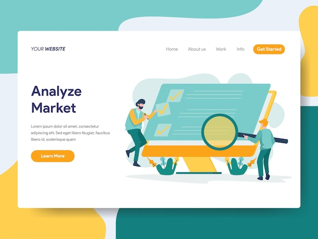 Analyze market for website page Premium Vector