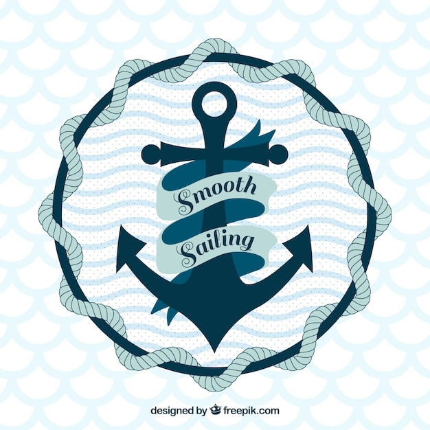 Anchor background design Premium Vector