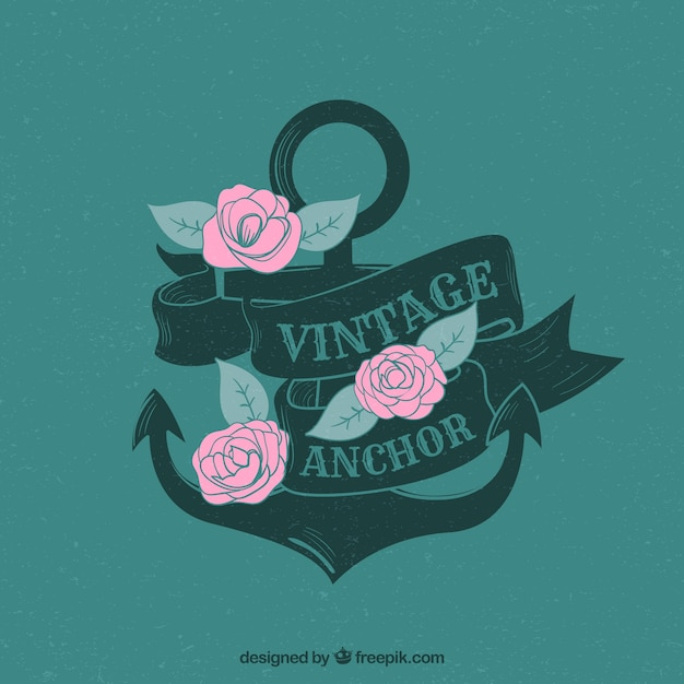 Anchor background with roses