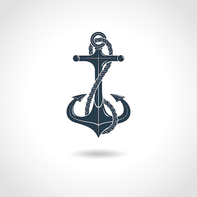 Anchor silhouette isolated object Free Vector