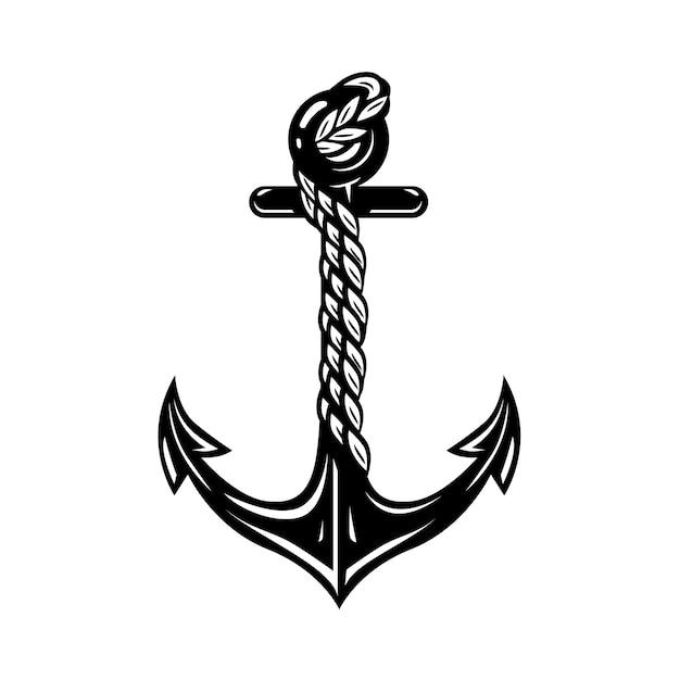 Anchor symbol logo Premium Vector