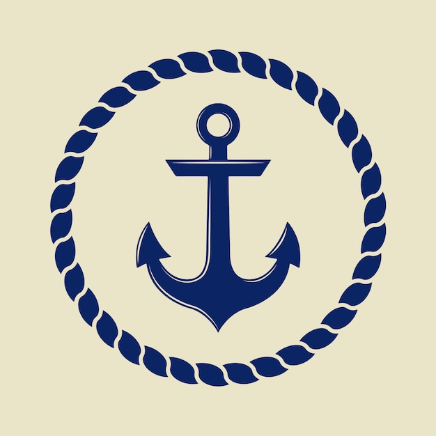 Anchor in vintage style. Premium Vector