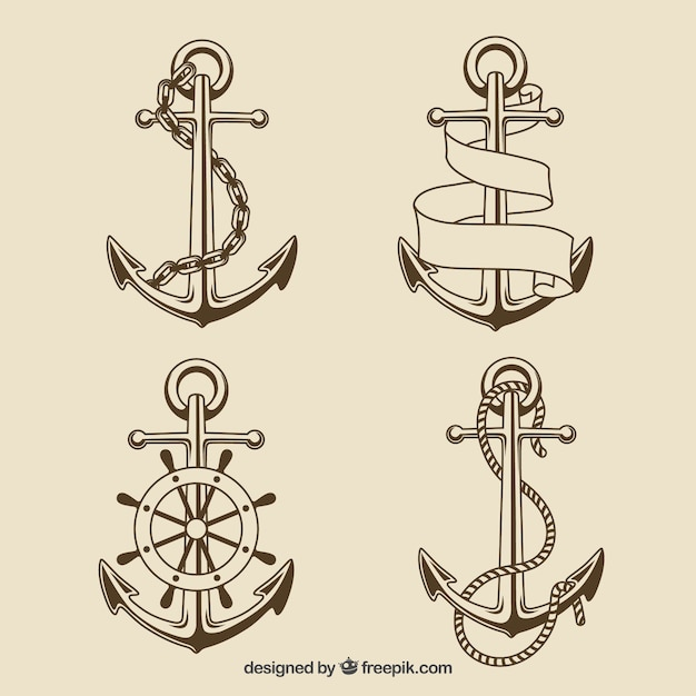 Anchors collection Vector | Free Download